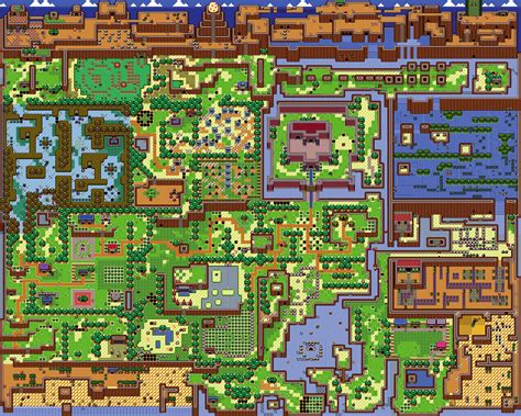 legend of zelda world map a link between worlds overworld next to a link to the past