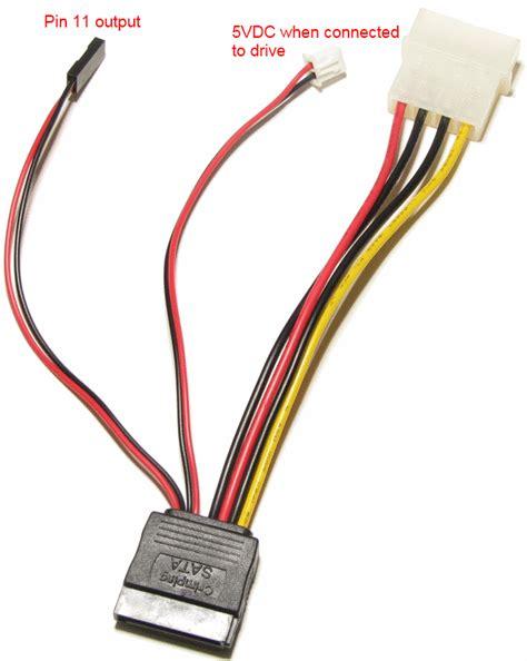 sata cable diagram 4pin molex to 15pin sata power adapter with activity