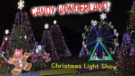 candy wonderland christmas light show houston youtube