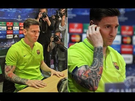 messi watch tattoo lionel messi tattoo youtube