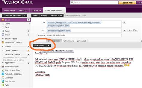 cara membuat email mengirim dan melirkan file attachment