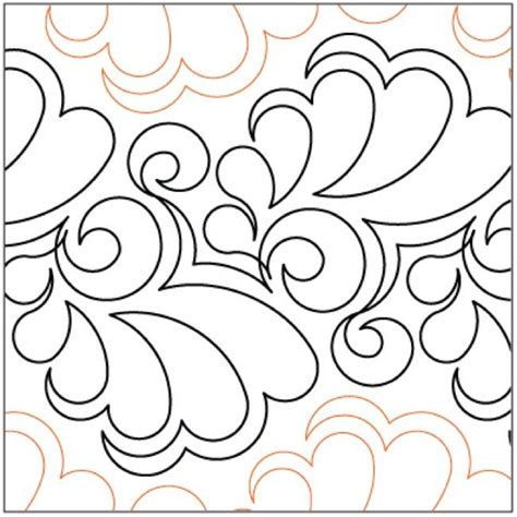 Lorien Quilting by Fantasia Quilting Pantograph Pattern By Lorien Quilting