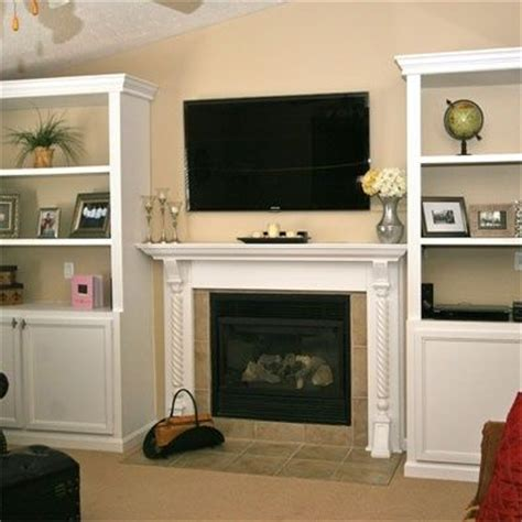 Built In Cabinets Around Fireplace Storage Decorating Shelves Next To Fireplace