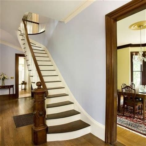 white crown molding  stained trim stained doors
