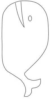 whale template printable bean bag whale
