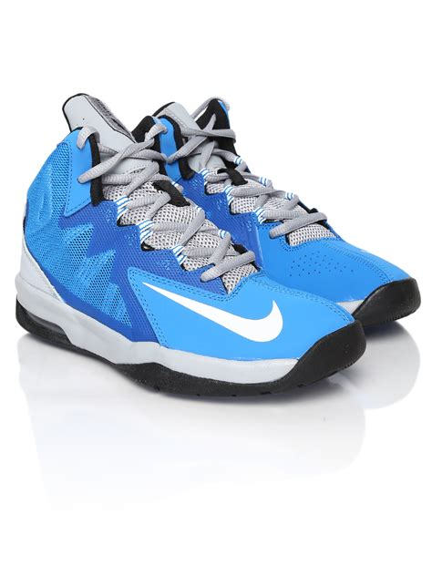nike boys basketball shoes blue myntra nike boys blue air max stutter step 2 gs leather
