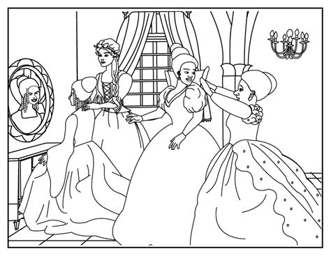 free cinderella coloring pages games coloring pages cinderella coloring page 2