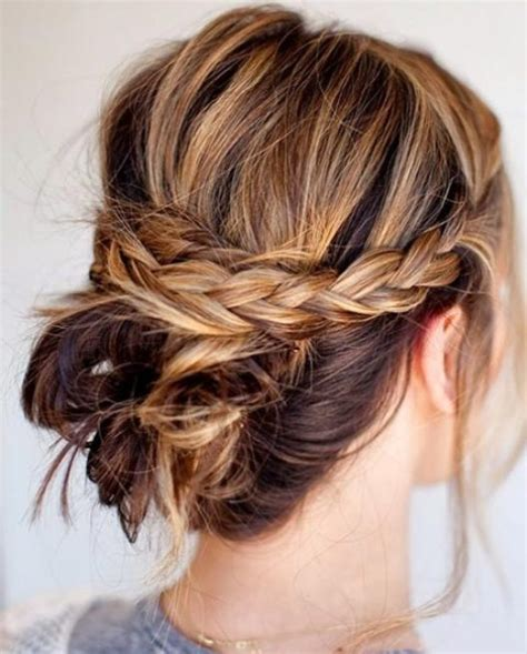 messy updo for long hair that take 5 minutes 15 exquisite prom updos for long hair