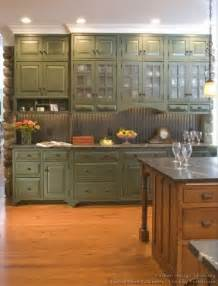 Country Green Kitchen Cabinets by Green Cabinets Foter
