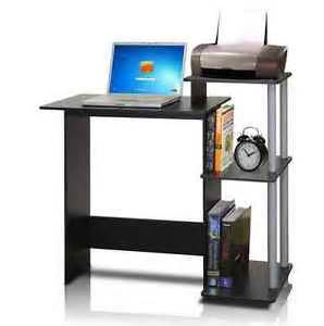 Small Printer Desk Small Black Laptop Computer Desk Home Office Stand Printer Table Furniture