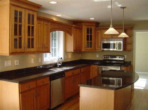 small brown l astounding l shape small kitchen decoration using small