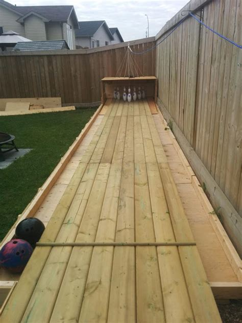 backyard bowling set build a semi automatic bowling alley in your backyard