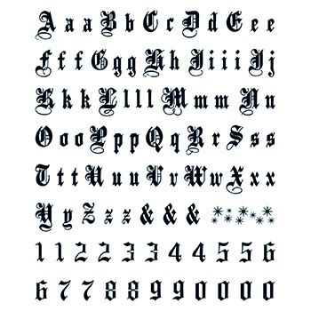 temporary tattoo numbers letters numbers old english temporary tattoo goimprints