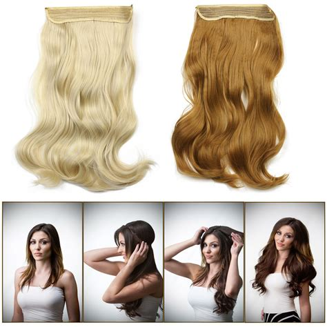 halo curly hair extensions 2015 new 20inch 50cm 135g wavy flip in hair extensions