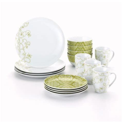 Kitchen Set Paisley Pasta Krem rachael dinnerware curly q 16 dinnerware set