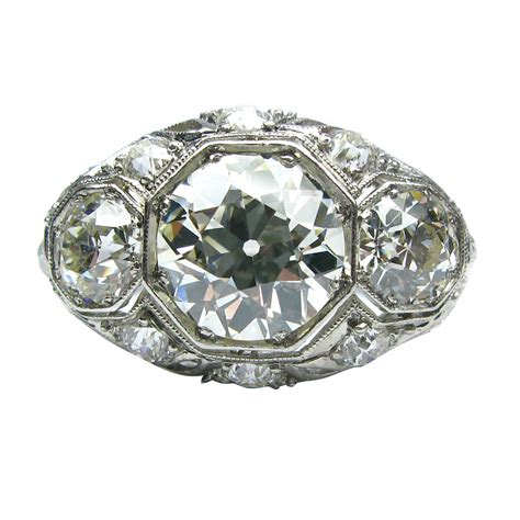 deco rings for sale deco platinum three ring for sale at 1stdibs