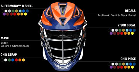 design my own lacrosse helmet customized cascade lacrosse helmets captain lax com