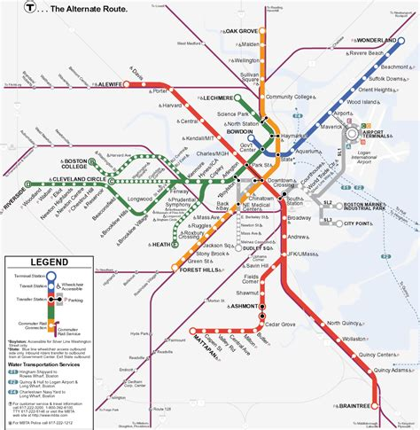 Boston Tube Map by Metro Map Pictures Boston Metro Map Pictures