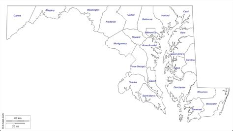 maryland map counties vector maryland counties outline map