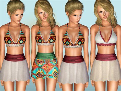 sims 2 clothing the sims resource shakeproductions coco jambo set custom mesh