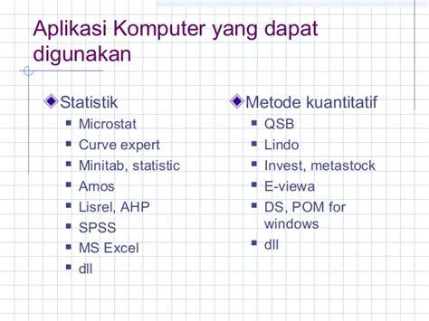 Aplikasi Statistik 1 1 peranan statistik dan penyajian data