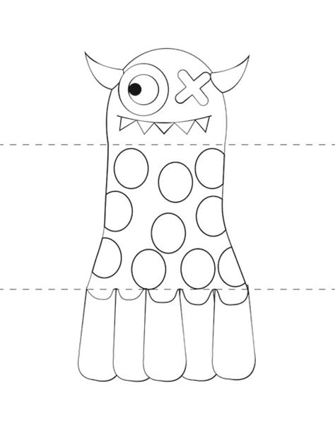 template monstre 8 best images of printable templates printable
