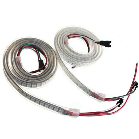 Lu Led 5050 Rgb Waterproof Ip67 Usb 1 Meter 5v 1m 43 2w ws2812b 5050 rgb ip67 resistente al agua led luz