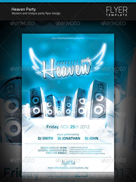template flyer envato heaven party flyer graphicriver