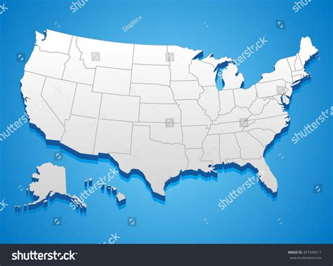 map of america that can be edited united states of america map 3d illustration of u s map