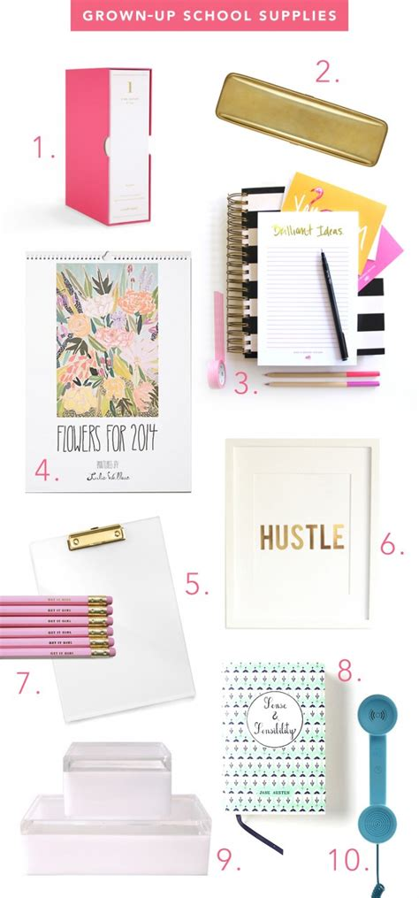 Office Supplies Needed For College Grown Up Glam School Supplies Theglitterguide
