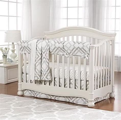 Pink And Gray Baby Bedding Baby Girl Crib Bedding Liz Gray Baby Boy Crib Bedding
