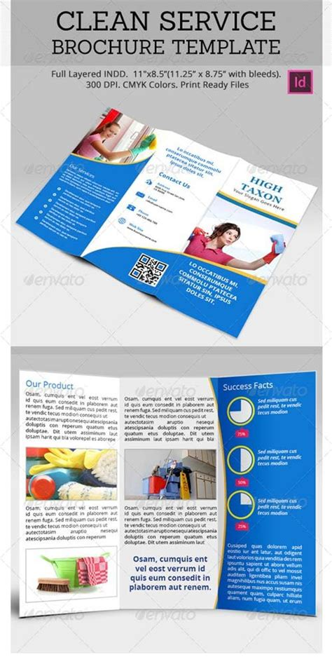 cleaning service brochure templates brochure templates graphicriver a4 business brochure