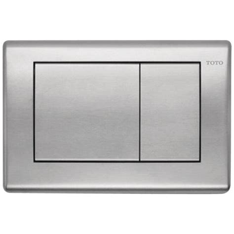 Push Kran Kuningan Model Toto toto in wall push plate for dual flush toilets in stainless steel yt820 ss the home depot