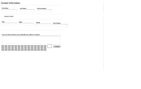 form design using div and css creating a css form that s horozontal using css not tables