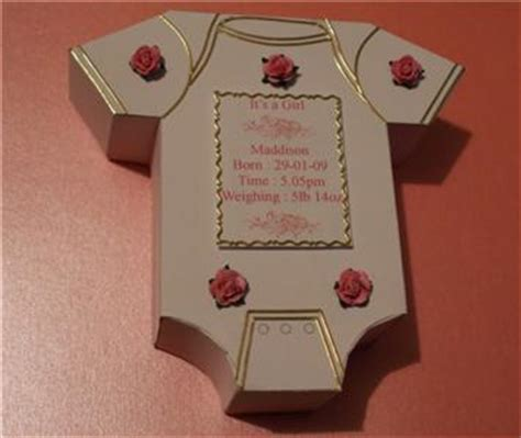 Diy Card Onesie With A Vest Card Template by 3d Baby Onesie Vest Keepsake Paper Card Gift Template Ebay