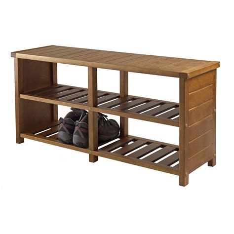 shoe bench amazon com winsome keystone shoe bench kitchen dining