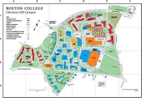 boston college map boston college cus map my