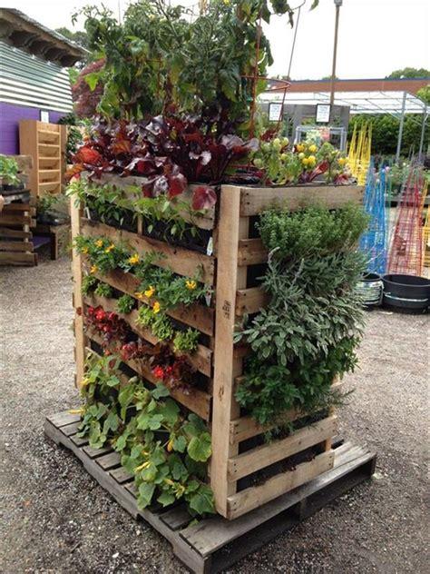 pallet garden container 16 awesome pallet garden planter ideas diy to make