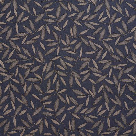 Upholstery Fabric Mn by Navy Floral Leaf Contract Grade Upholstery Fabric By The Yard