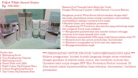 Produk Wardah White Secret djaya cosmetics produk wardah