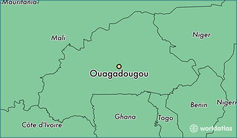 burkina faso world map where is ouagadougou burkina faso where is ouagadougou