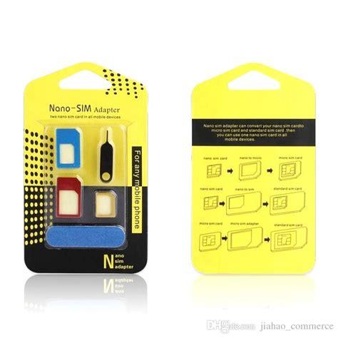 Nano Tech Precision Cut Alumunium Sim Card Adapter nano sim adapter with sim tray ejector pin techno space inc