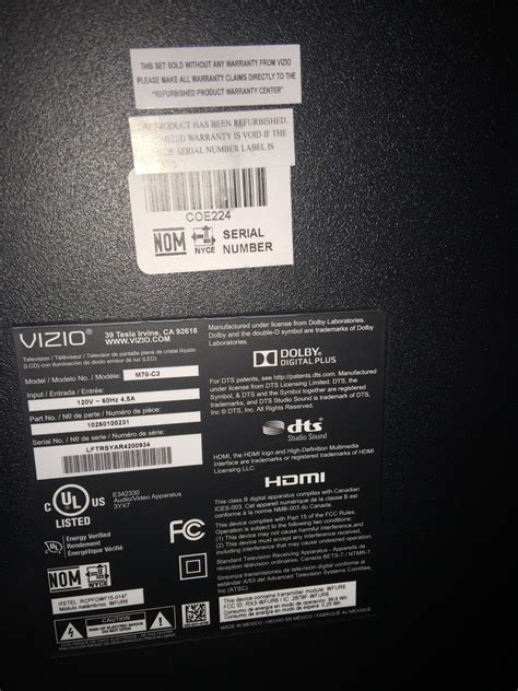 vizio tv reset after power surge i have a 70 quot vizio tv and it won t turn on the light at