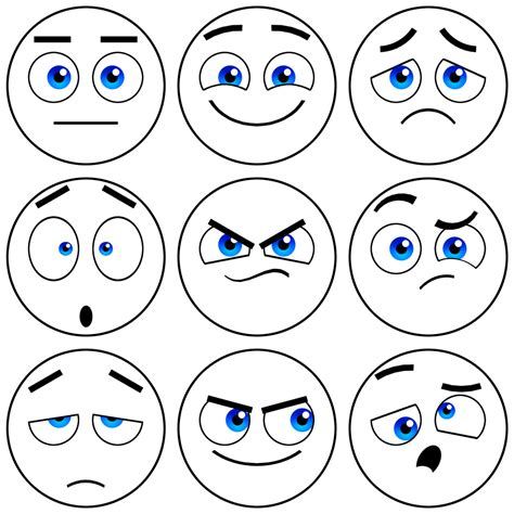 coloring pages emotions facial expressions free coloring pages of emotions facial expressions