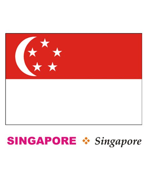 singapore flag coloring pages for kids to color and print
