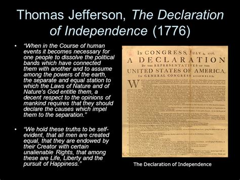thomas jefferson declaration of independence why do we need a government ppt download