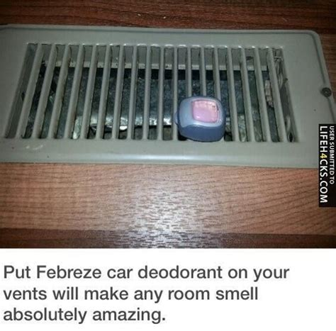 how to make your room smell great idea put febreze car deodorant on your vents makes any room smell great for the