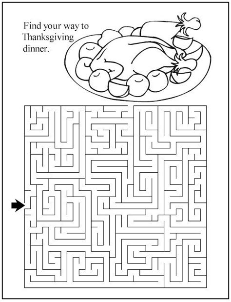 free printable turkey mazes find your way to thanksgiving dinner at the pottery