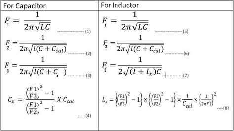 calculate the inductance of an lc circuit precise lc meter