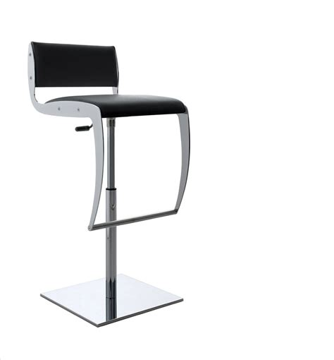 Black And White Bar Stools by Modern Compar Chrome And Eco Leather Yumi Bar Stool In